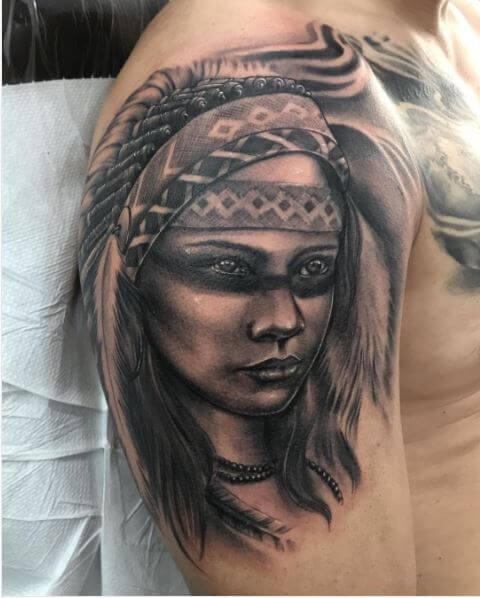 Native American Tattoo Sleeve