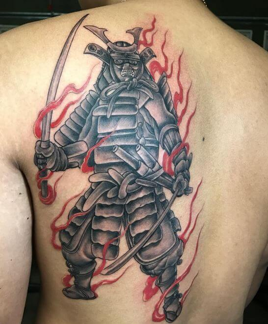 Oni Samurai Tattoo