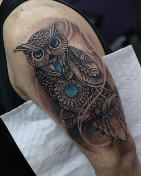 Owl Half Sleeve Tattoos