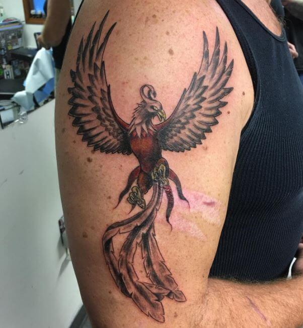 Phoenix Arm Tattoos For Men