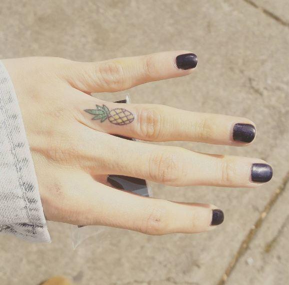 Pineapple Tattoos For Girls