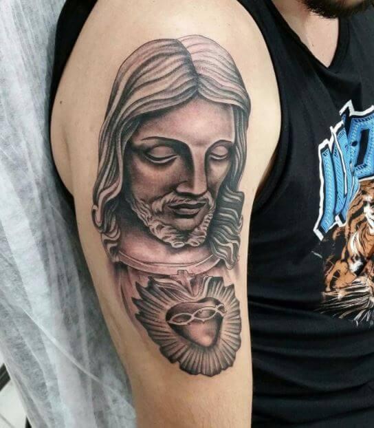 Religious Arm Tattoos For Men Half Sleeves
