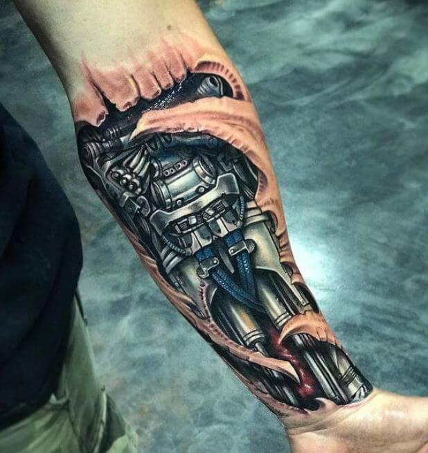Robot Arm Tattoos For Men