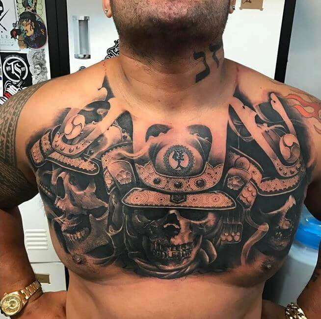 Samurai Chest Tattoo