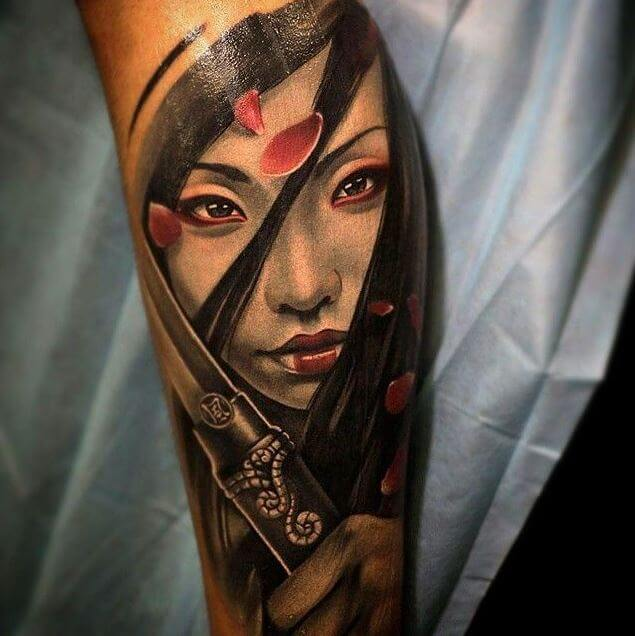 Samurai Girl Tattoo