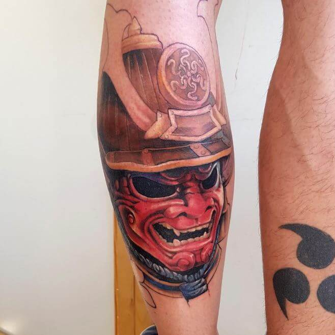 Samurai Mask Tattoo