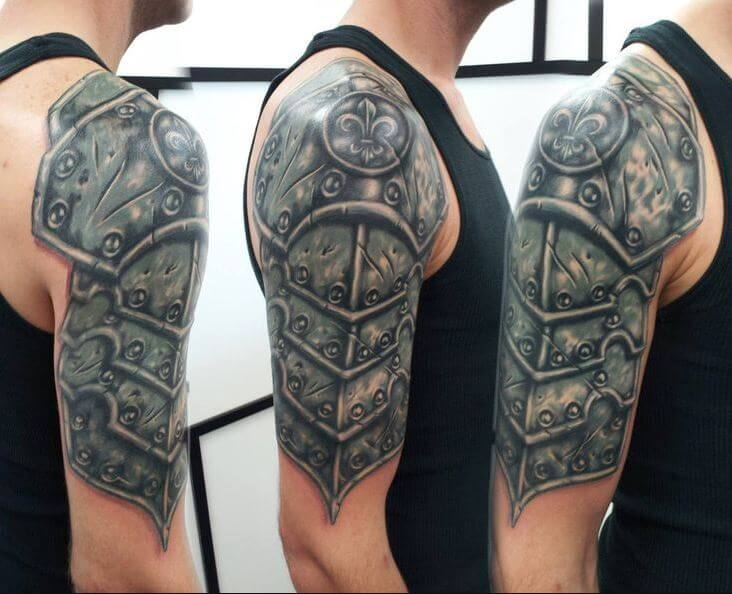 Samurai Shoulder Armor Tattoo