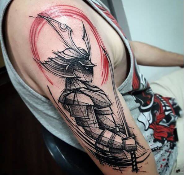 Samurai Sleeve Tattoo
