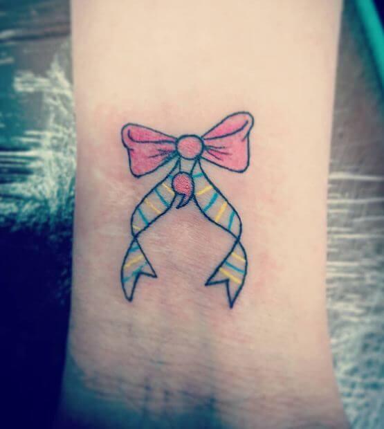 Semicolon Ribbon Tattoo