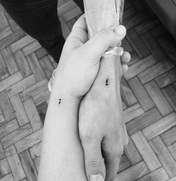 Semicolon Tattoo Pics