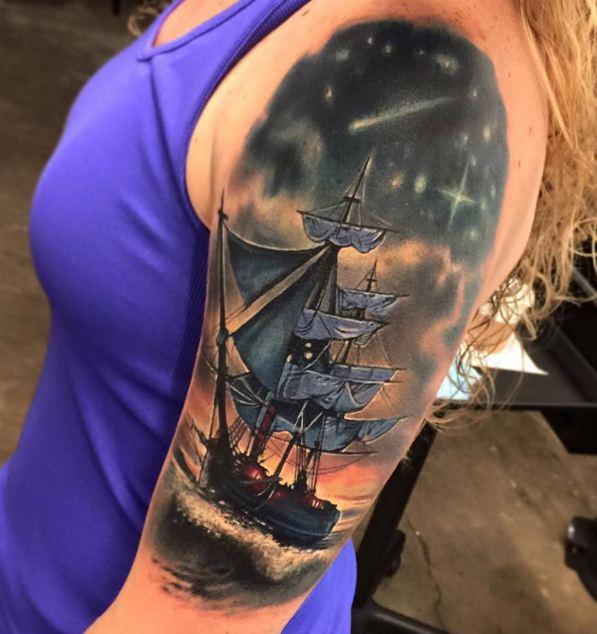 Ship Half Sleeve Tattoos
