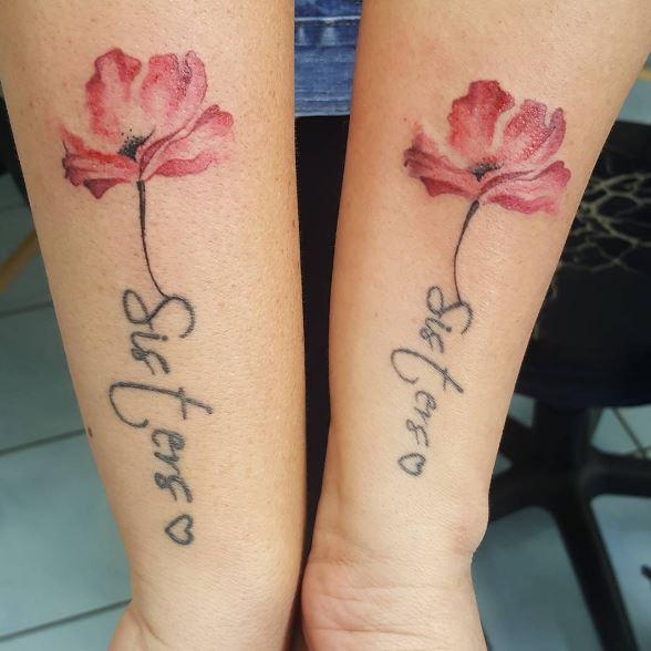 Sister Flower Tattoos