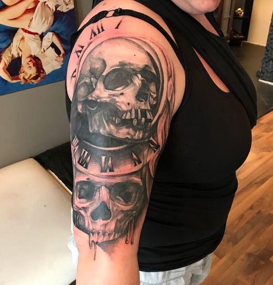 Skull Half Sleeve Tattoos Ideas