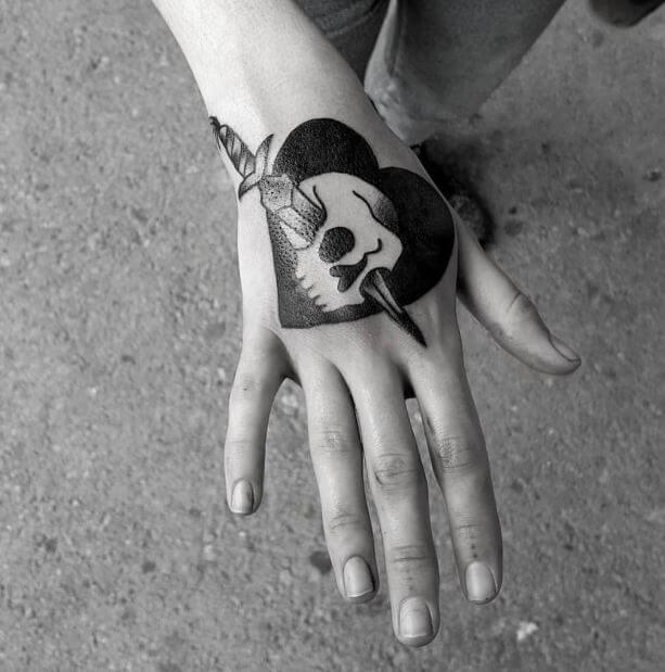 Skulls And Heart Tattoos