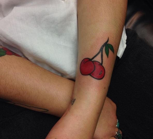 Small Cherry Tattoos For Girls