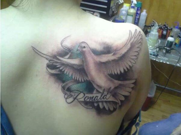 Tiny Dove Tattoo Gallery