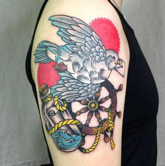 Traditional Dove Tattoo