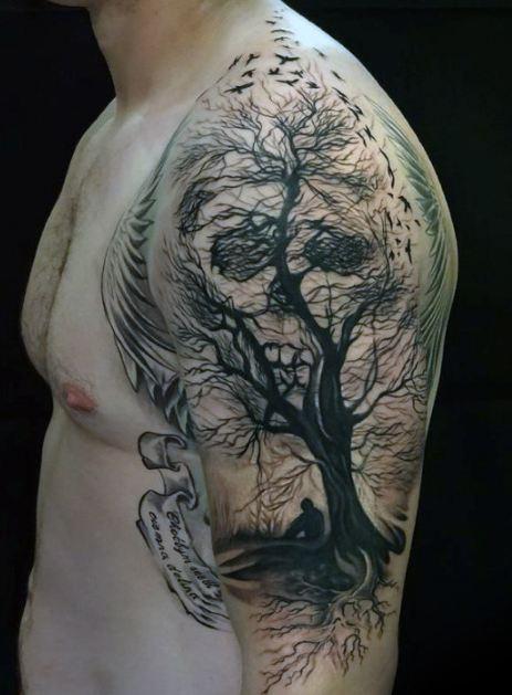 Tree Half Sleeve Tattoos