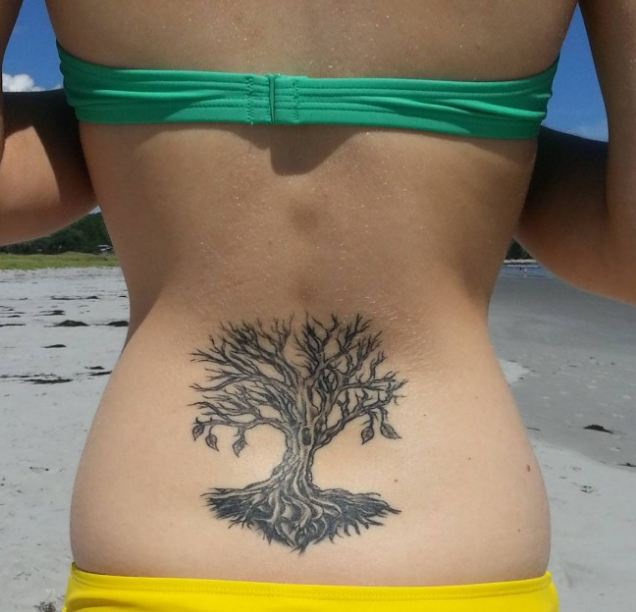 Tree Tattoos On Lower Back For Girls
