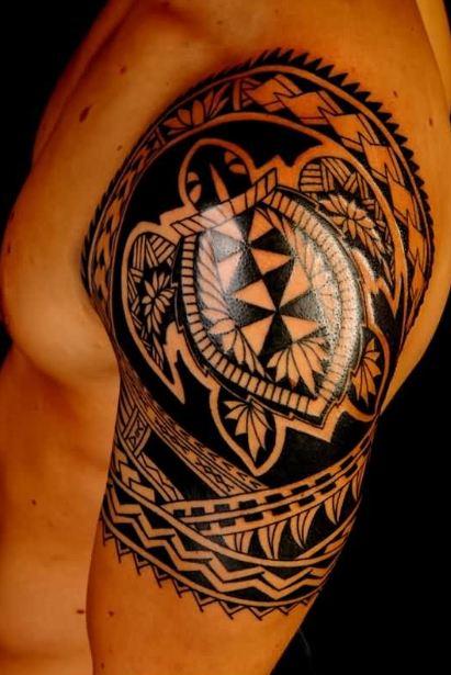 Turtle Half Sleeve Tattoos
