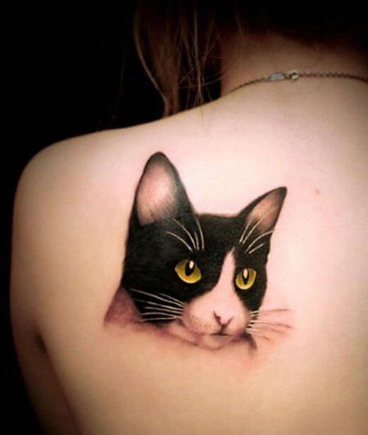 Tuxedo Cat Tattoo
