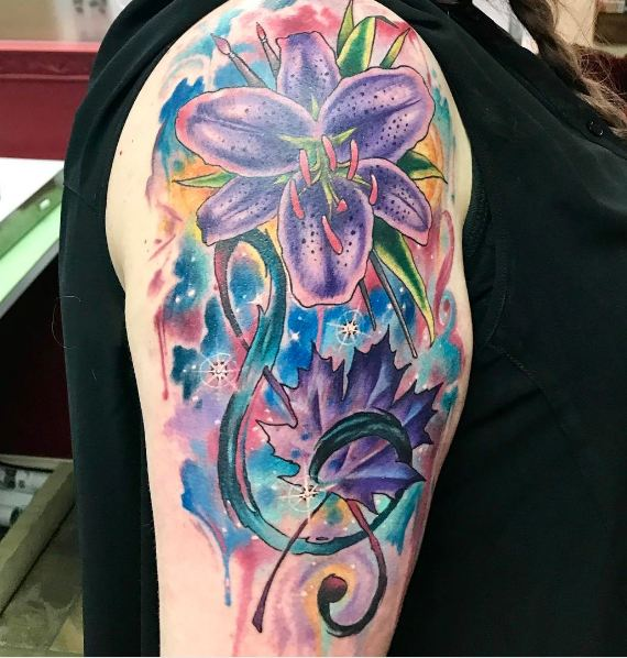 Watercolor Half Sleeve Tattoos