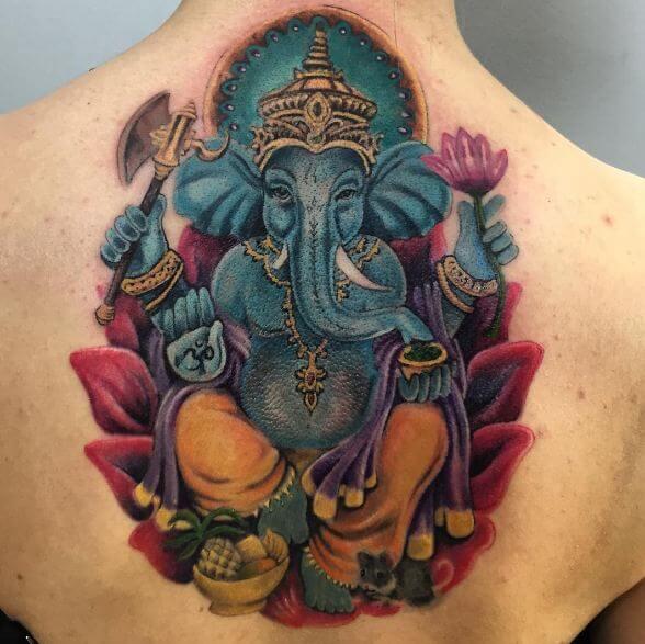 Ganesha Tattoos For Girls