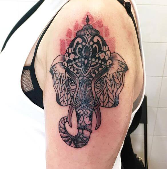 Ganesha Tattoos On Half Sleeve