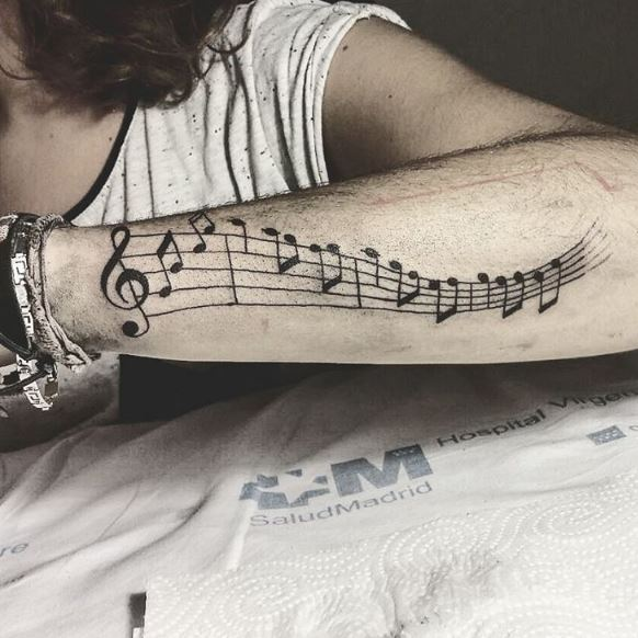 Music Tattoo On Arm 16