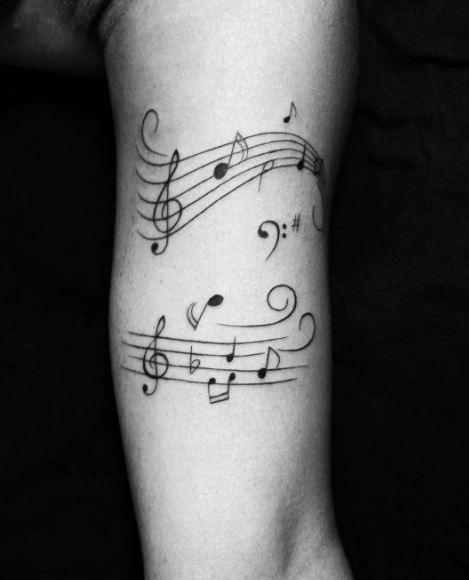 Music Tattoo On Arm 2
