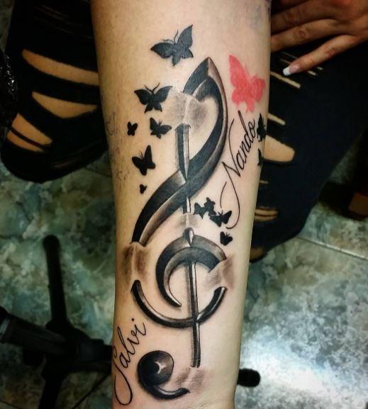 Music Tattoo On Arm 25