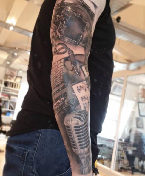 Music Tattoo On Arm 35