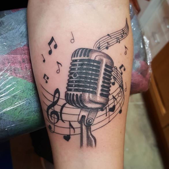 Music Tattoo On Arm 7