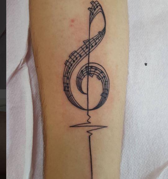Music Tattoo On Arm 8