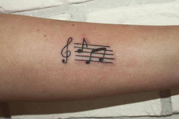 Music Tattoo On Arm 9
