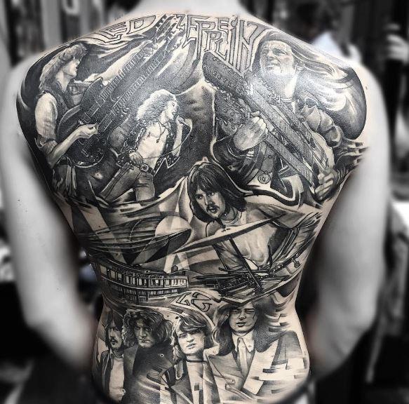 Music Tattoo On Back 4