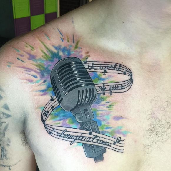 Music Tattoo On Chest