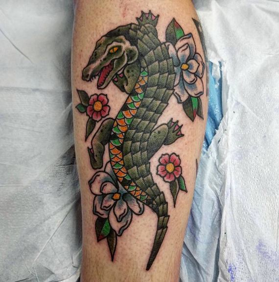 Aligator Wildlife Tattoos