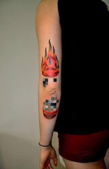 Asian Elbow Tattoos