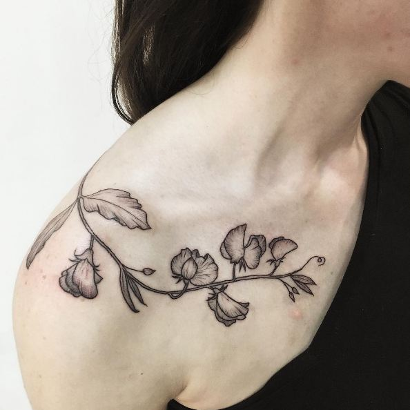 Beautiful Collar Bone Tattoos