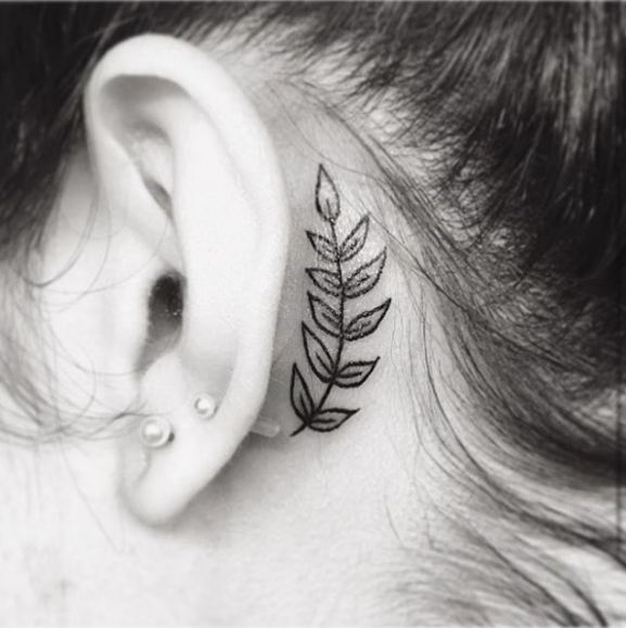 Behind Ear Tattoos Gallery