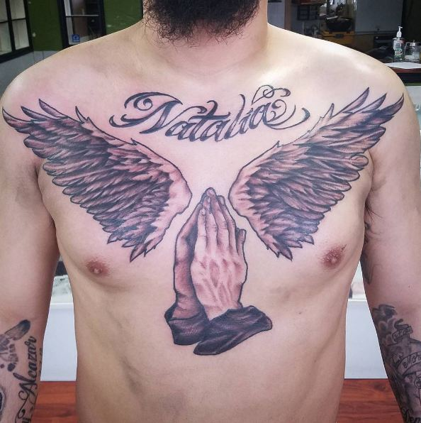 Chest Wings Tattoos