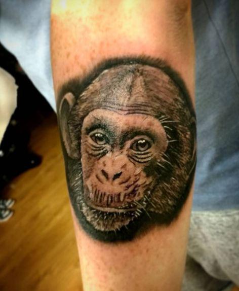 Chimpanzee Wildlife Tattoos
