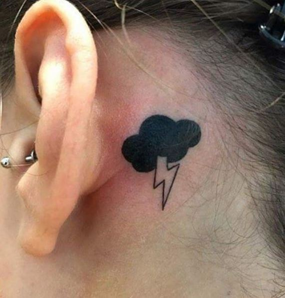 Cloud Ear Tattoos