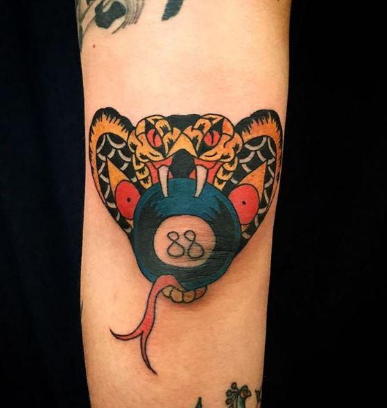 Cobra Elbow Tattoos