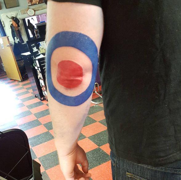 Colourful Elbow Tattoos