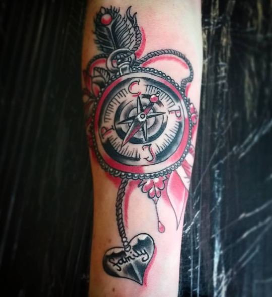 Compass Tattoos Designs