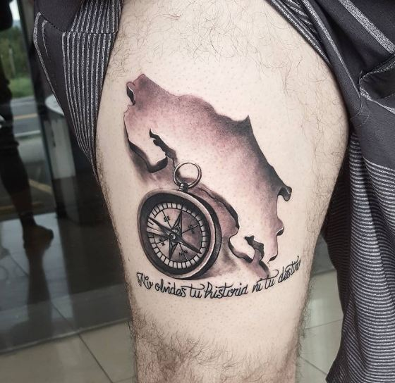 Compass Tattoos With Quotes