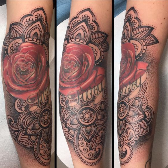 Cover Up Elbow Tattoos