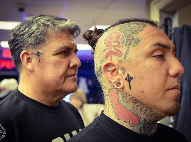 Cross Matching Father Son Tattoos